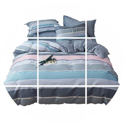南极人纯棉四件套全棉床单被套被子床上用品女ins网红宿舍三件套