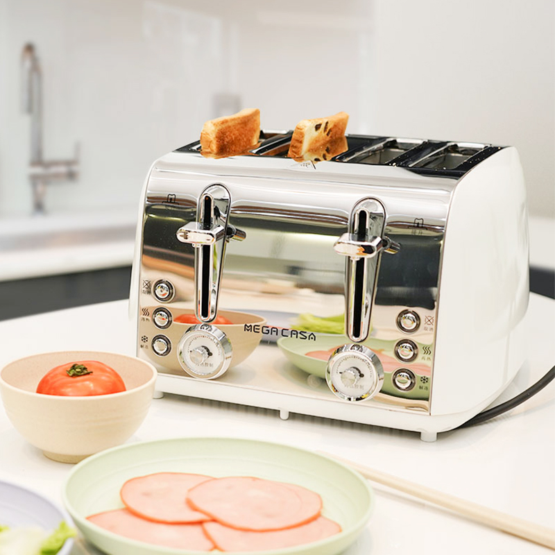 Mega Casa household toaster 4 full automatic toaster commercial breakfast spit driver