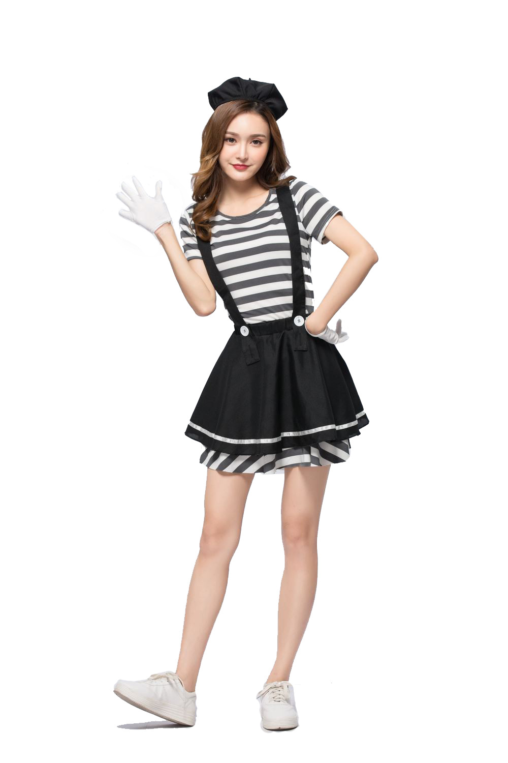 Japanese Lotte female Halloween role-playing costume striped prisoner exported to adult Amazon