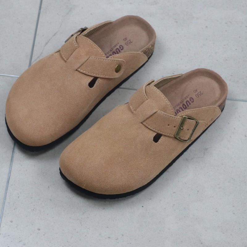 日本夏季男士透气包头软木鞋男女款日系大码拖鞋拖鞋博肯凉鞋潮男