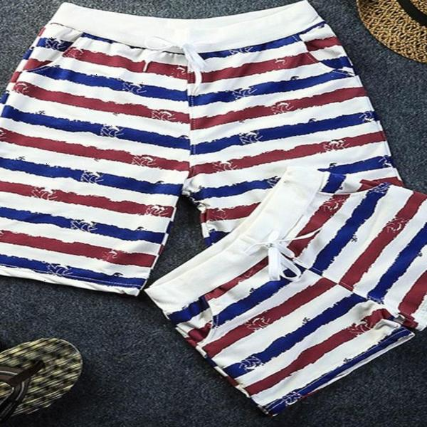 Summer lovers pajamas mens and womens striped Home Shorts Korean simple pants hot pants thin large underpants trend