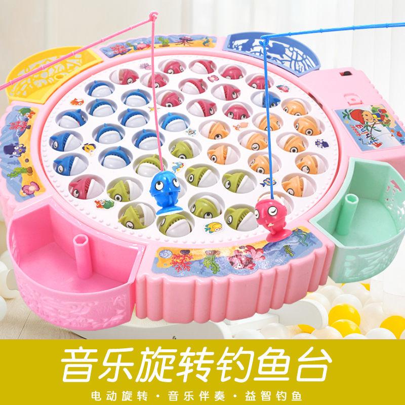 儿童钓鱼玩具套装磁性电动音乐智力开发男女孩益智1宝宝早教3-6岁