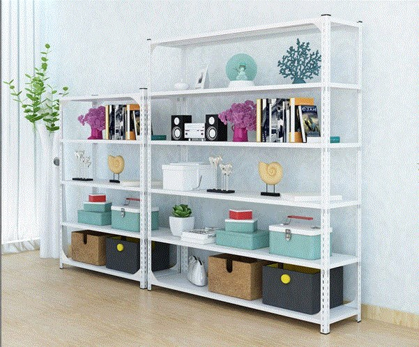 Household storage room small storage rack load bearing assembled display cabinet shop family office floor type white