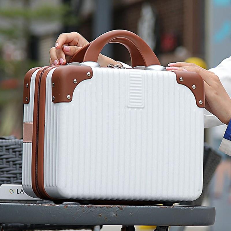 时尚韩版女士手提箱子小行李箱14寸化妆包便携小型迷你旅行箱可爱