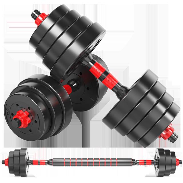 哑铃男士健身器材家用杠铃亚铃一对可调节重量初学者哑铃套装