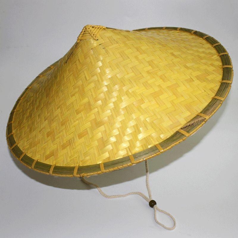 斗串帽男の日よけサンバイザー農民の漁夫帽子帽子帽子帽子の手作りビーチ帽子の竹編み笠。