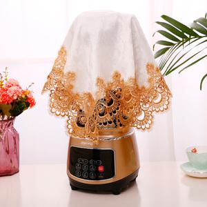 玻璃杯防尘布咖啡机破壁机豆浆机防尘罩盖布蕾丝多用巾厨房电器茶