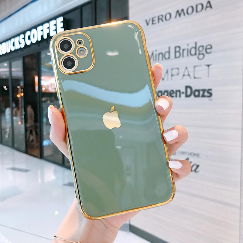 适用于苹果11手机壳iphone11液态硅胶全包镜头高级感女神款电镀夏季新款11promax防摔男女款情侣网红直边绿色
