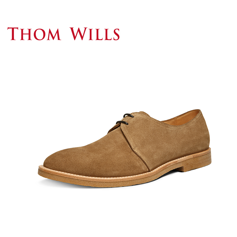 Chinese retro British anti Plush Derby shoes low top desert boots soft bottom Martin boots Thoms mens casual leather