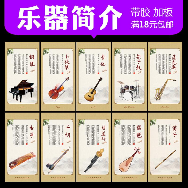 乐器海报简介音乐知识介绍钢琴家挂画像教室布置挂图琴行房墙贴