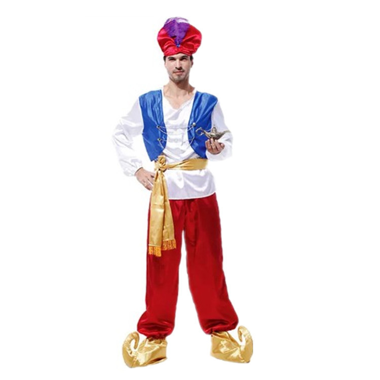 Male Aladdin parent-child costume role play masquerade ball performance Costume Adult Halloween children