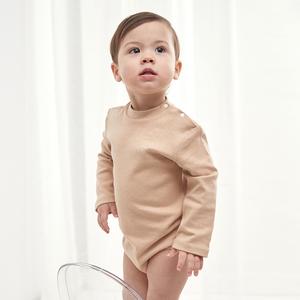 婴儿衣服高领包屁衣宝宝彩棉纯棉内衣连体衣三角爬服秋冬打底内穿