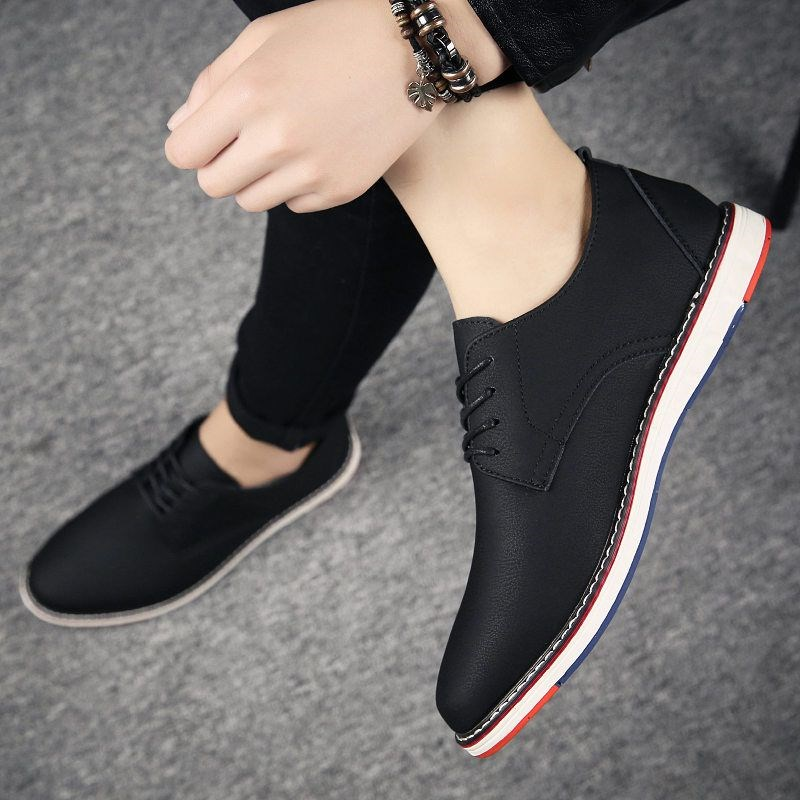 Summer breathable small leather shoes British increase mens versatile business dress casual fashion shoes Korean casual board shoes
