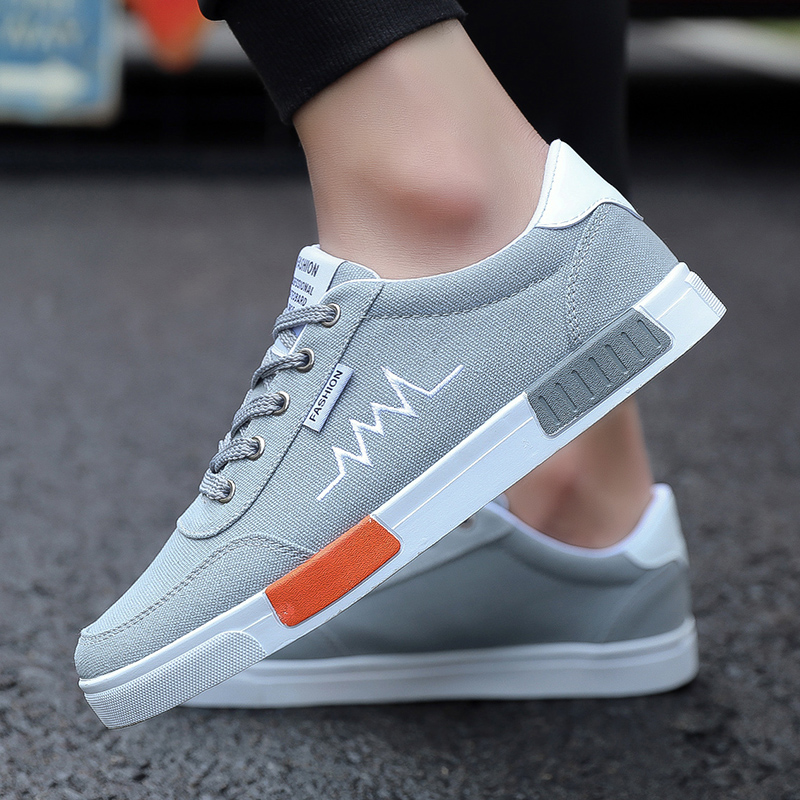 Korean jeans 7-point shorts with fashionable shoes cheap summer mens work feet Leisure Canvas sports white