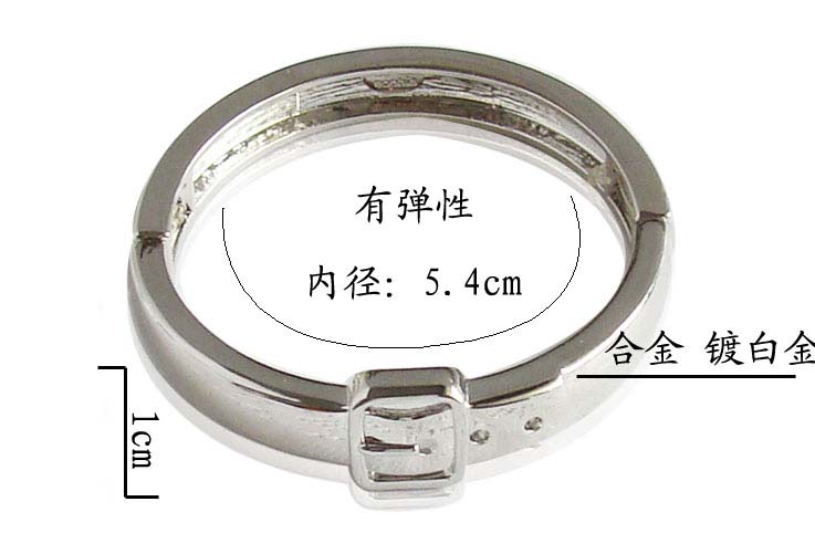 European f American hot selling fashion leather g buckle platinum plated bracelet C6 hot selling charm womens fashion