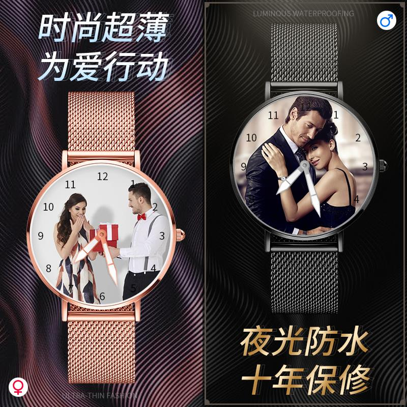 2020 customized mens and womens personalized creativity China wind weather birthday blessing gift lettering waterproof watch
