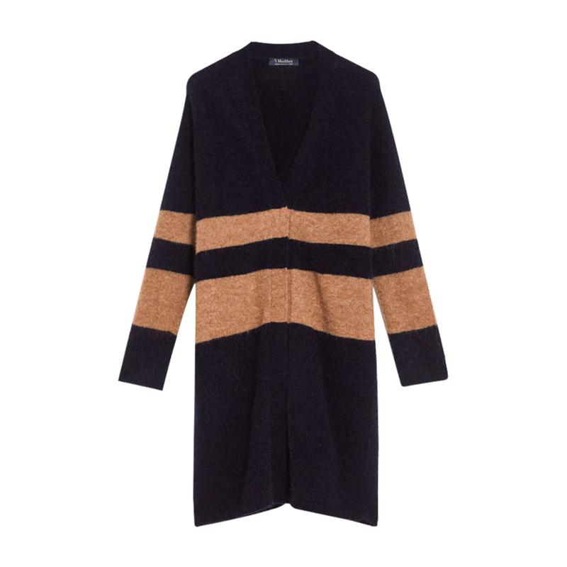 Genuine maxmara / masmara cardigan new magdav collar sweater coat Long womens wear