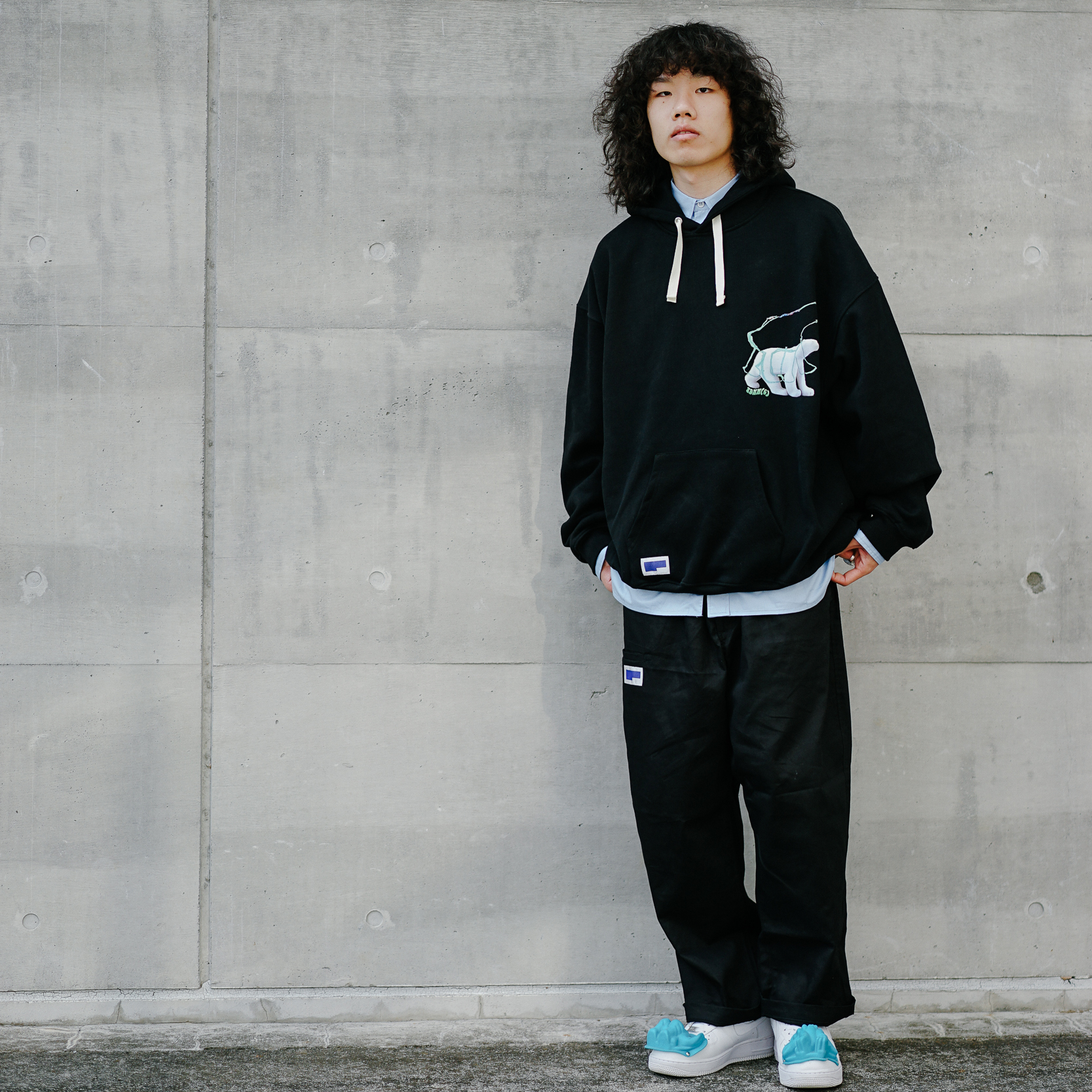 Tdnw (c) 19aw new loose Hoodie oversize thick heavy Pullover Hoodie Collage