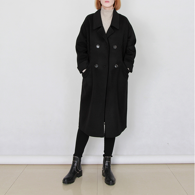 Naris woolen coat womens coat 2020 new long 100 pure wool coat womens double-sided autumn and winter