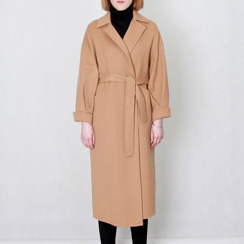 Naris double-sided wool coat womens medium and long high-end wool coat coat 2020 new Korean autumn and winter