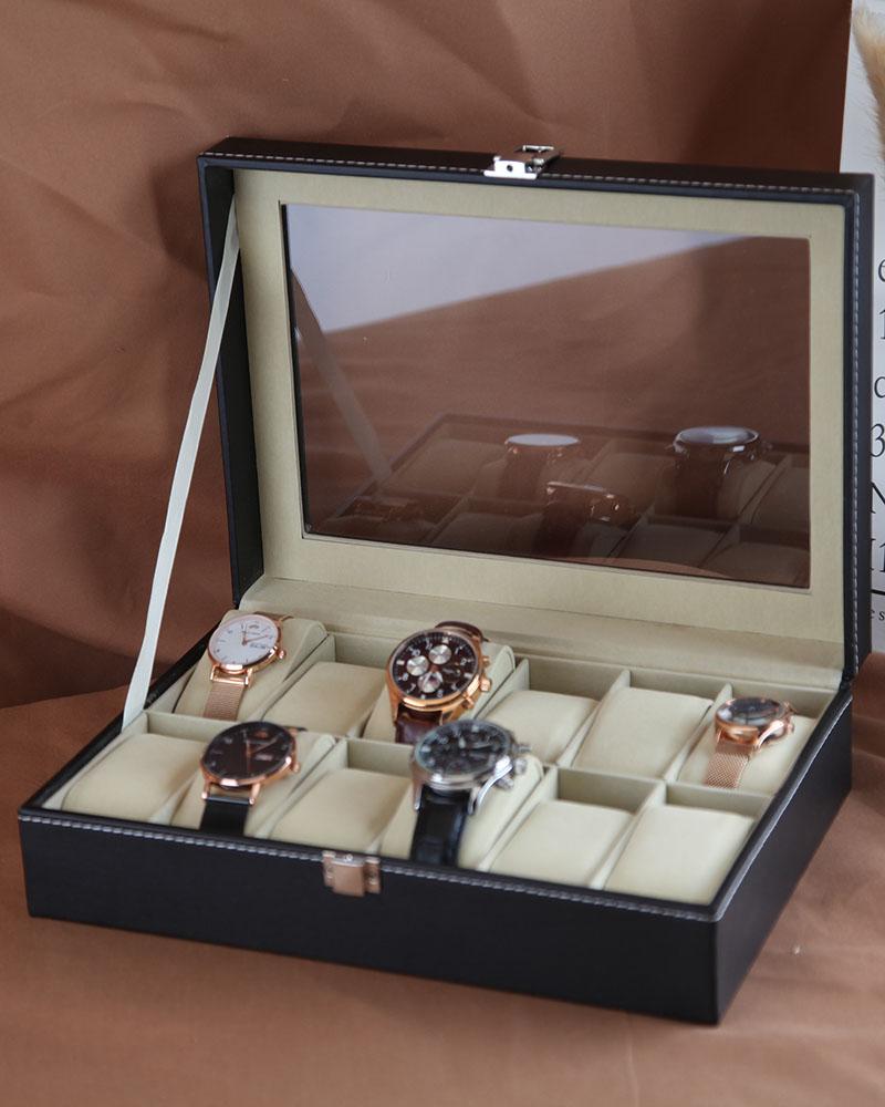 vi-arick欧式皮质手表盒子整理盒评测参考