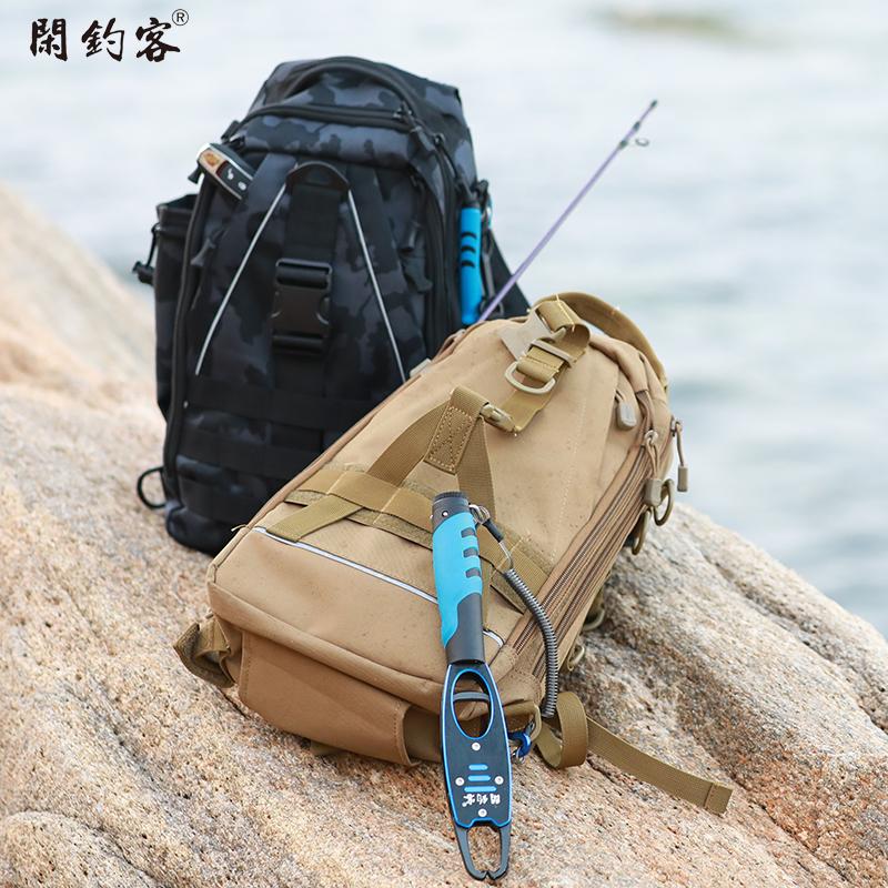 路亚包多功能包腰包专用包斜挎防水竿包一体式双肩包单肩收纳背包