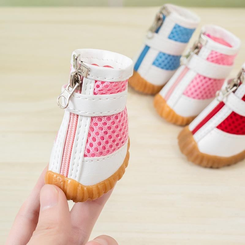 泰迪狗鞋宠物狗狗鞋子透气夏季网鞋防滑耐磨小型犬四季鞋比熊凉鞋图片