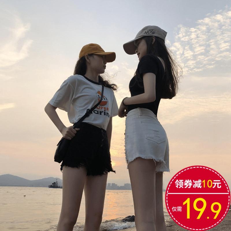牛仔短裤女夏季高腰宽松显瘦a字潮ins网红阔腿韩版2020年新款热裤
