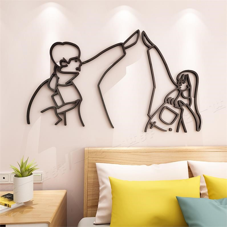 Nail wall stickers ins healthy girl wall picture stickers indoor decorations beauty font home beverage shop