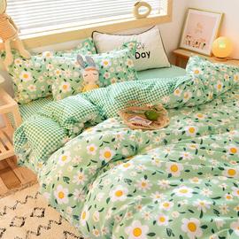 小碎花四件套春夏小清新被子被套双人床单床上用品学生宿舍三件套