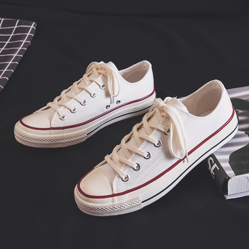 White low top canvas shoes mens 2020 new Korean shoes lovers cloth shoes winter small white shoes board shoes fashionable shoes