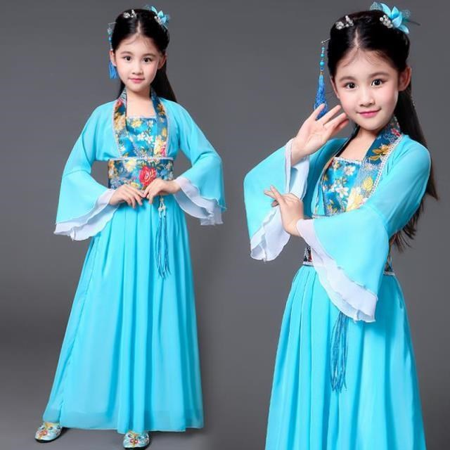 Dancing Tang suit, Han costume, long-sleeved cross-body girl, beautiful costume, summer costume, small people ancient