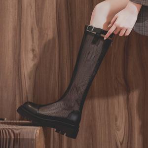 子女夏季2021年新款夏天网长筒靴