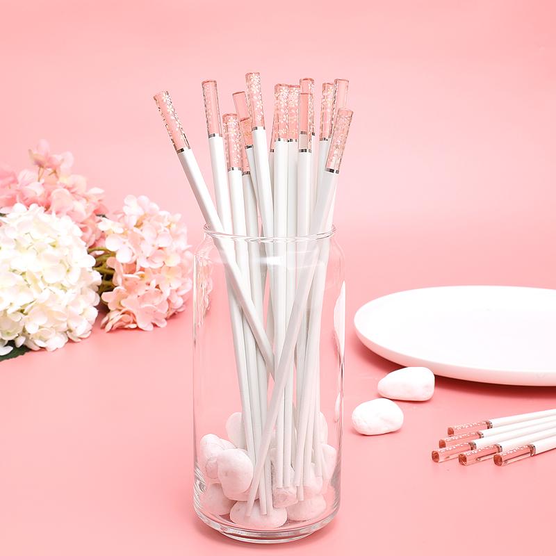 筷子琥珀樱花高端合金筷个性防滑日式筷子家用抗菌耐高温创意网红