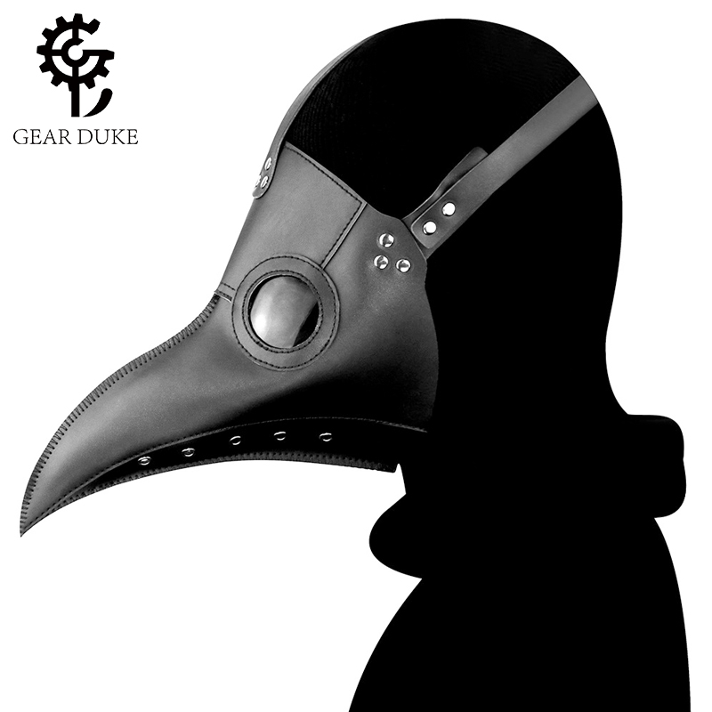 Steampunk medieval plague doctor cos game anime character head cover crow beak mask men and women