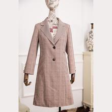 【贵夫人皮草】2020格子外套西装款风衣女春夏休闲百搭大衣