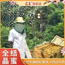 蜂蜜纯正天然 野生结晶蜜纯蜂蜜百花蜂蜜纯正天然农家自产土蜂蜜