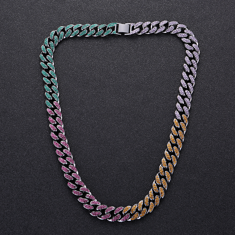 Korean hip hop necklace with diamond is also a rough one