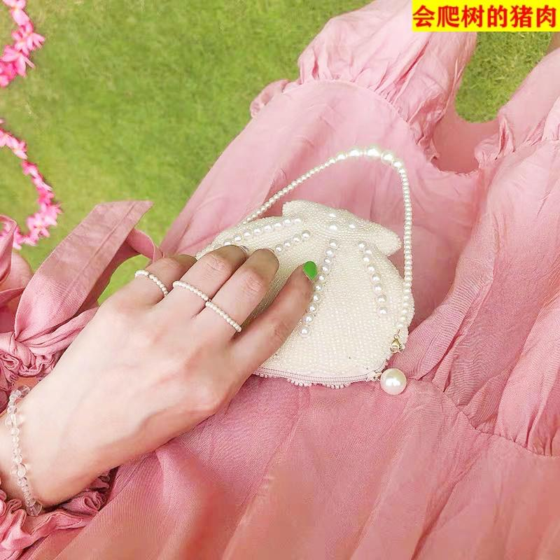 Small pearl ring ultra-fine ring, simple and simple for women, small pearl delicate finger ring
