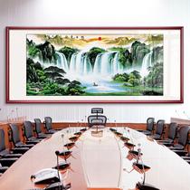 沙發背景墻壁畫辦公掛畫新中式客廳溫馨裝飾畫花開富貴牡丹國畫