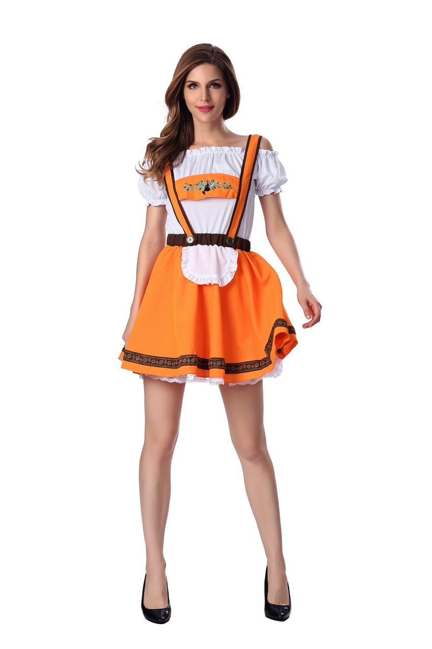 Adult maids costume beer suit womens couples show costume parent childs Halloween German Beer Festival costume mens