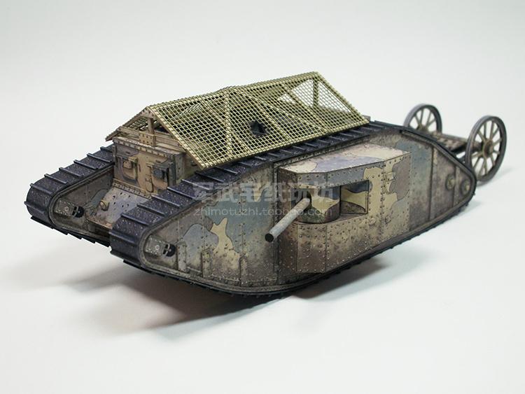 韩国模型 1:35 坦克世界 战车 手工diy 英国mark.i雄性坦克