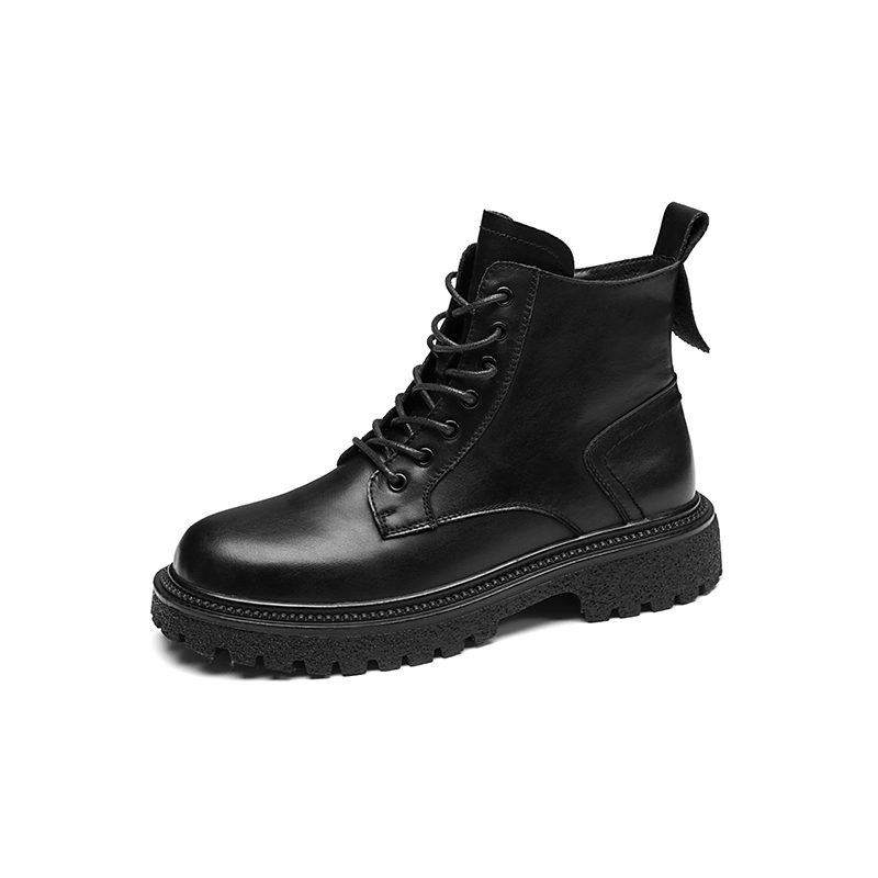 2021 new fashion casual short boots round head lace up flat heel short boots Martin boots