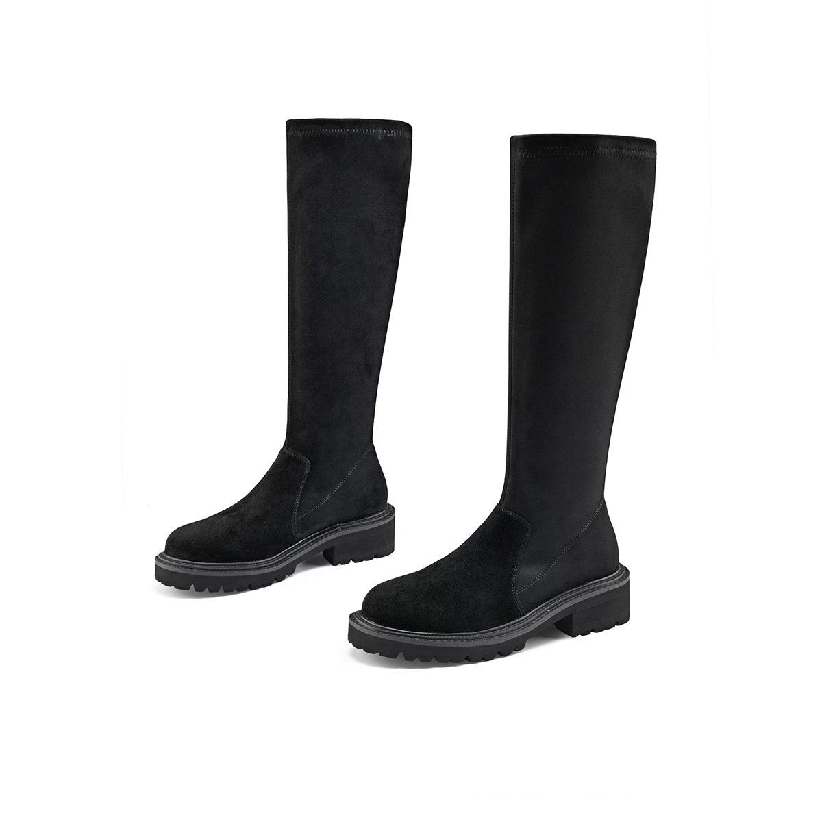 [high boots] the new Martin boots in autumn and winter 2021 are all kinds of womens elastic boots with high barrel and thick bottom