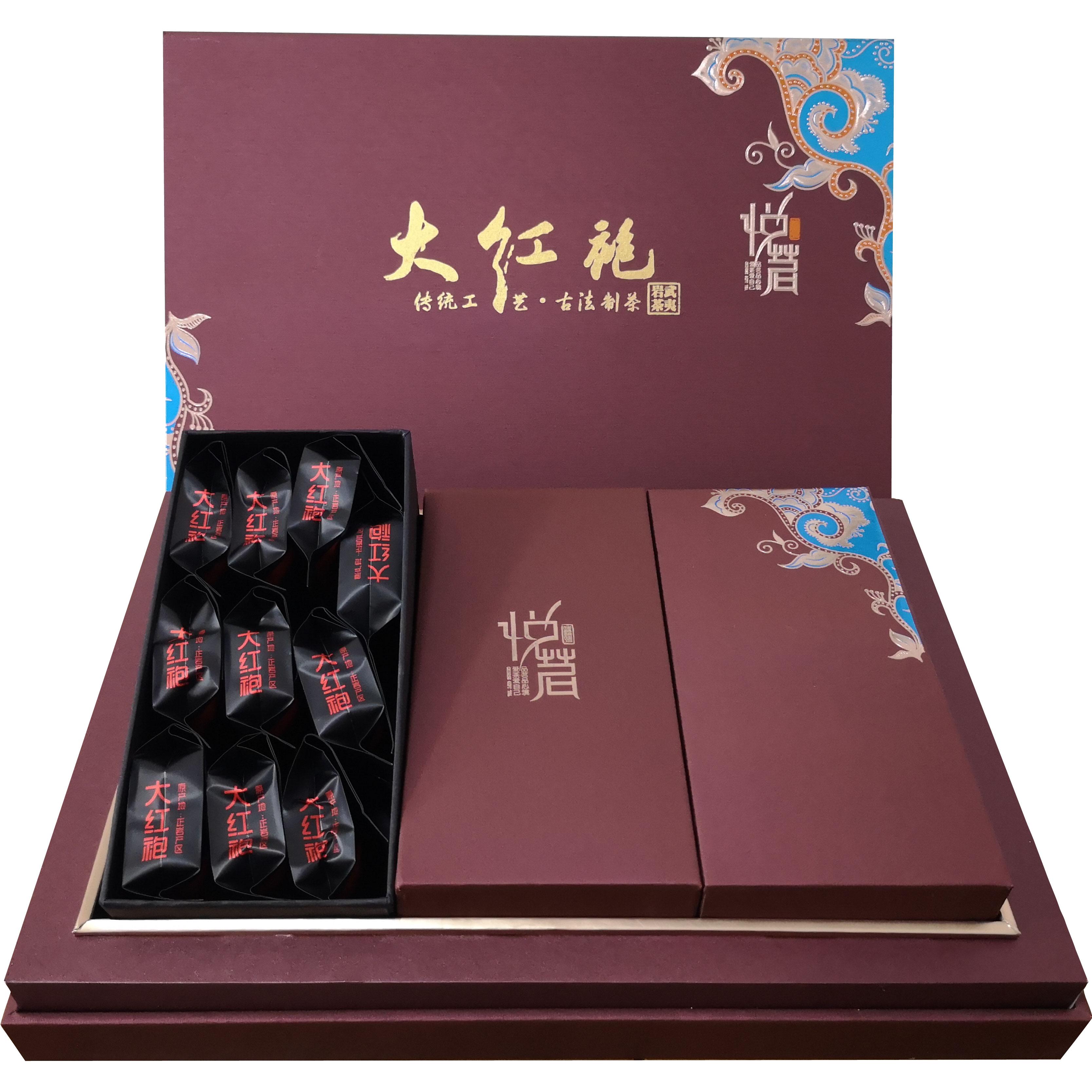 悦茗堂特级大红袍武夷山高山天然有机乌龙茶春茶礼盒装250g