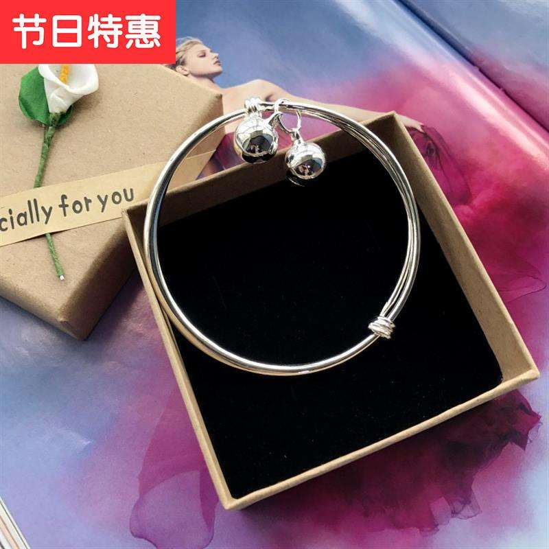 New Korean small bell Bracelet Silver Fashion Chain girl h smooth simple versatile temperament foot ring
