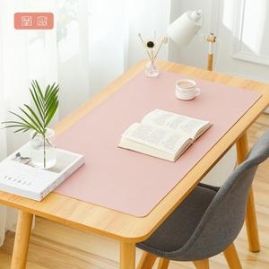 霞鹿办公桌垫皮质超大号鼠标垫写字垫笔记本电脑键盘垫防水定制