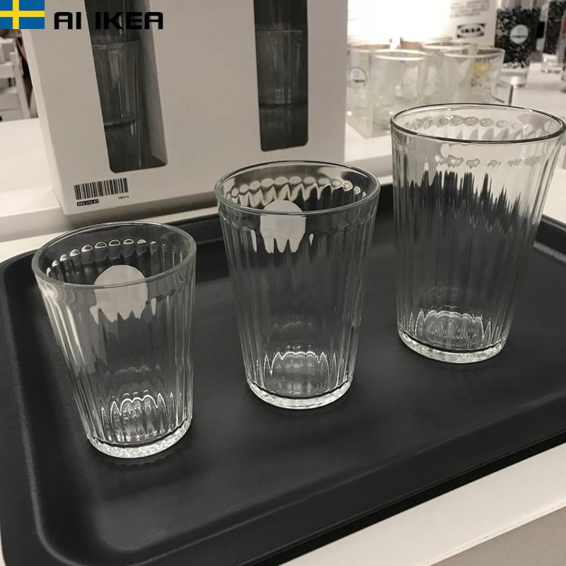 宜家创意玻璃杯家用装耐热玻璃水杯茶杯啤酒杯白酒杯果汁杯洋酒杯