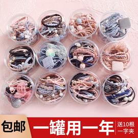 韩国头绳ins可爱少女网红手链两用扎头发绳发圈简约头饰森系皮套图片