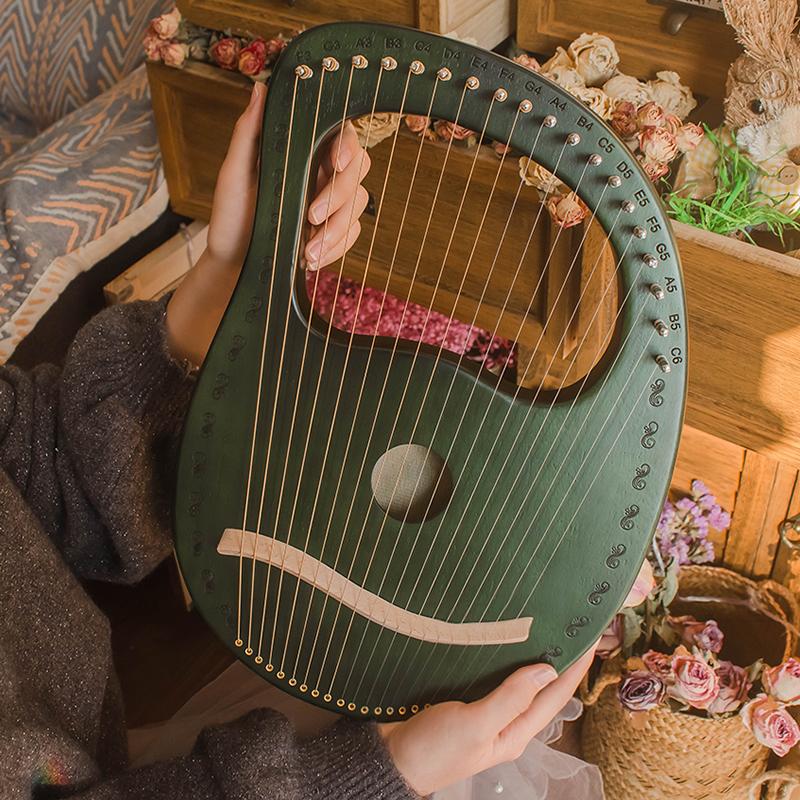 莱雅琴男女初学者16弦小众乐器原木19弦小竖琴便携式里拉琴lyre琴